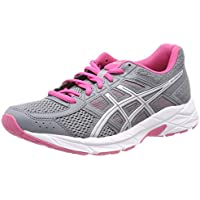 ASICS Women's GEL Contend 4 Shoe Stone Grey/Silver/Hot Pink