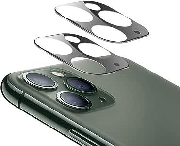 【2枚セット】iPhone 11 Pro Max/iPhone 11 Pro カメラフィルム3D全面保護フィルム 日本製素材旭硝子製 99%透過率 硬度9H 液晶強化ガラス 全面フルカバー 超薄型 指紋気泡防止 飛散防止処理 アイフォン 11 pro/11 pro Max レンズ 保護フィルム