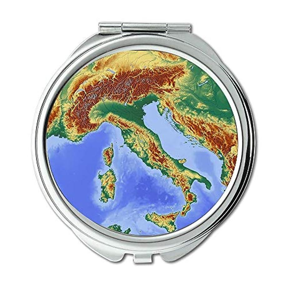 ペイント寂しい発疹ポケットミラー、コンパクトミラーラウンドコンパクトミラー両面、イタリアの男性用ウォレットミラー/女性MT 041