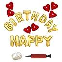 バルーン KeeQii 誕生日 アルミ風船 飾り付け 装飾セット ポンプ付き バースデーパーティー Happy Birthday