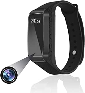Anviker 1080P 着用可能スマートブレスレット型ビデオカメラ 歩数計 腕時計 着信電話通知 SMS通知 スポーツウォッチスパイカメラ 高画質隠しカメラ 監視録画、録音、写真、商談、会議、講義防犯証拠撮影日本語取扱