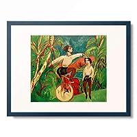 エルンスト・ルートヴィヒ・キルヒナー Ernst Ludwig Kirchner 「Einradfahrer」 額装アート作品