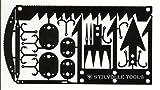 サバイバルカード12 サバイバル時に役立つ12機能をカードサイズに収めたサバイバルカードツール 釣り針大、釣り針小、矢尻A、矢尻B、罠用ロック大、罠用ロック小、千枚通し、縫い針、ノコギリ大、ノコギリ小、ピンセット、トライデント STILVOLLE TOOLS(スティルホル・ツールズ)(ブラック) アメリカ空軍緊急脱出時訓練課程SERE(Survive、Evade、Resist、Escape)取得者のアイディアから生まれたサバイバルにも耐えられるスタイリッシュツール