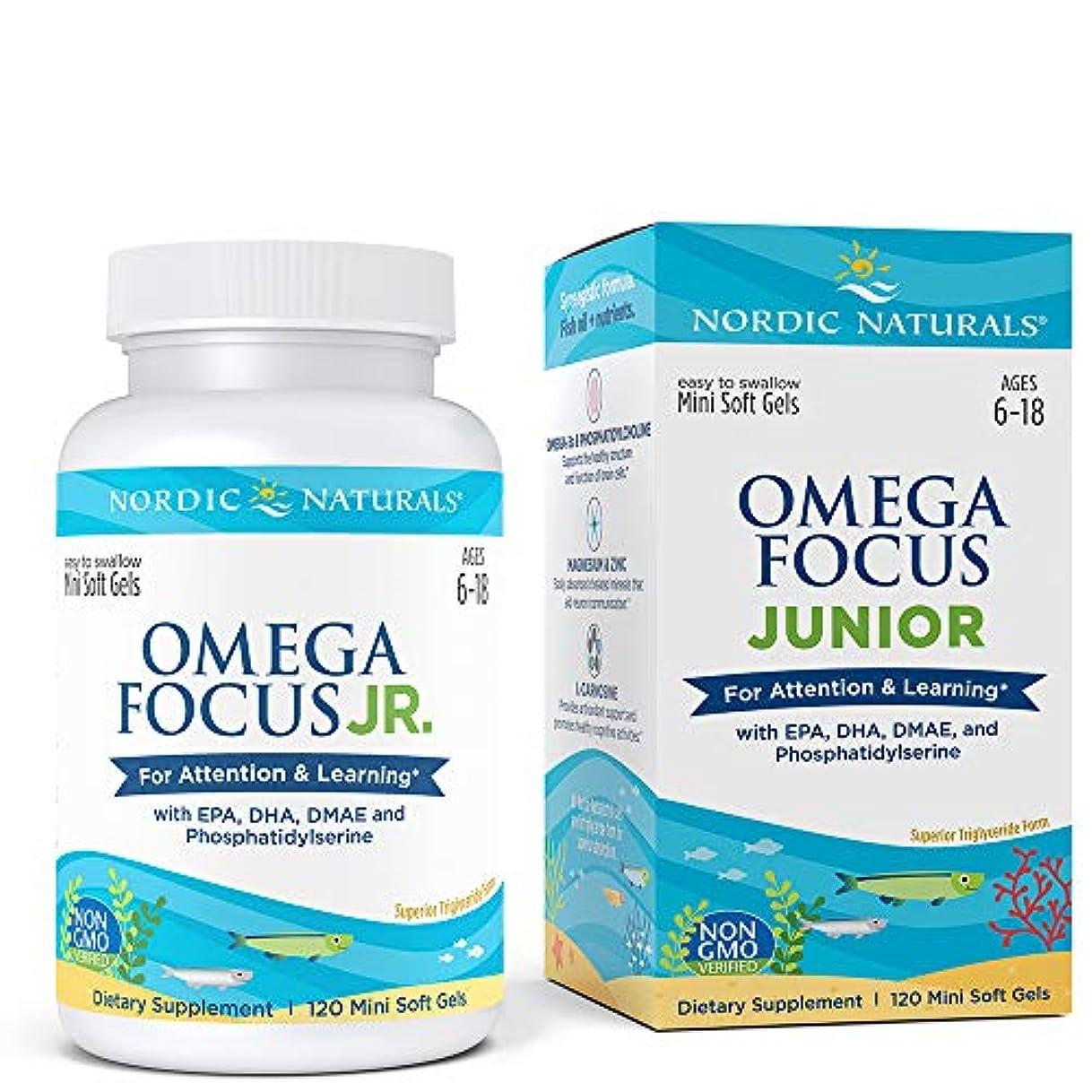 やりすぎロボット競争力のあるNordic Naturals Omega Focus Junior オメガ フォーカス ジュニア ソフトカプセル 120錠 [海外直送品]