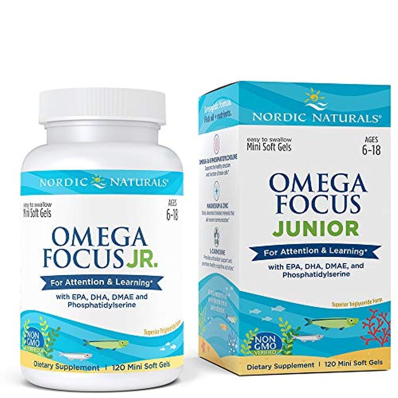 フラスコ前書き争うNordic Naturals Omega Focus Junior オメガ フォーカス ジュニア ソフトカプセル 120錠 [海外直送品]