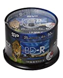 シリコンパワー 1回録画用 ブルーレイディスク BD-R 25GB 1-4倍速 ホワイトワイドプリンタブル 50枚スピンドル SPBDRV25PWB50S