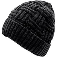 Material: The winter knitted beanie hat made of premium quality stretchy, soft-spun acrylic fiber, artificial wool inner liner for extra warmth. Very soft and cozy, hand-knitted feel, close to the skin, giving you lasting warmth and softness.
