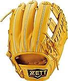 ZETT(ゼット) 硬式野球 グラブ (グローブ) プロステイタス セカンド・ショート用 右投げ用 トゥルーイエロー (5400) サイズ:3 日本製 専用グラブ袋付き BPROG361