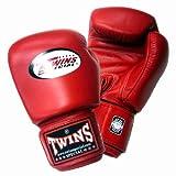 Twins ボクシンググローブ 本革製 8オンス レッド