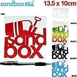 【SANDBOX】サンドボックス カッティングステッカー スノーボード スケートボード BLACK OneSize