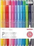 トンボ鉛筆 水性サインペン プレイカラー2 24色 GCB-012