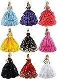 ZITA ELEMENT バービー人形用服 着せ替え6枚セット ファッションプリンセスドレス 1/6サイズ(約30cm)ドール適用