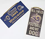 Los Angeles Rams NFL、壁の装飾、ファンWelcome Sign , and Footballと私の犬、2のセット