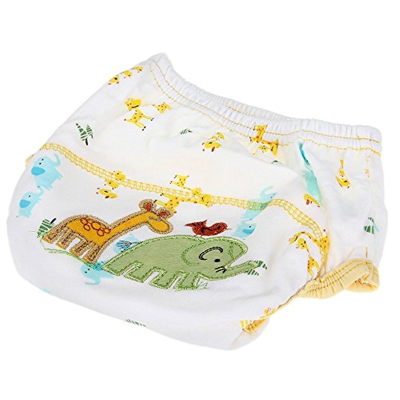 RETYLY おむつトレーニングパンツ 洗濯可能防水コットン 象パタン ベビー用