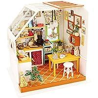 PETFORU 手作りキットセット 3D DIY 木製 人形屋 組み立て 女の子 おもちゃ 忍耐力 実践力 想像力 知育玩具 面白い プレゼント - キッチン