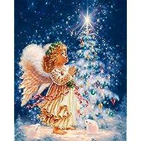 Fineser ( TM ) 5dクリスマスペイントクロスステッチダイヤモンドラインストーン貼り付けた刺繍ホーム装飾D