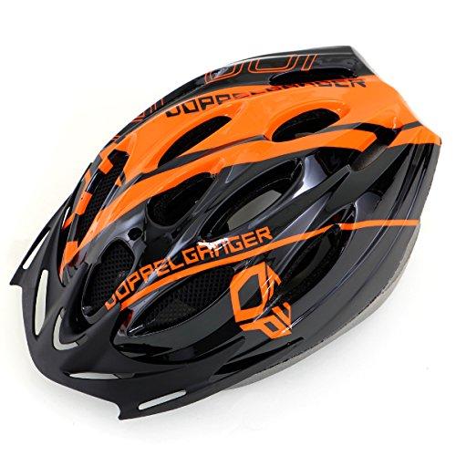 DOPPELGANGER ヘルメット S-Lサイズ [頭周囲:54~59cm] 重量約250g軽量仕様 サイズ調整可能 取り外し可能専用バイザー付属 蒸れ防止ベンチレーションホール配置 衝撃吸収インナーパッド