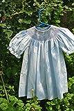 ドレス  スモッキングドレス  ビショップ  ブルー