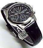SEIKO クロノグラフ 腕時計 本革ベルトセット 国内セイコー正規流通品 ブラック SND309P1 [並行輸入品]
