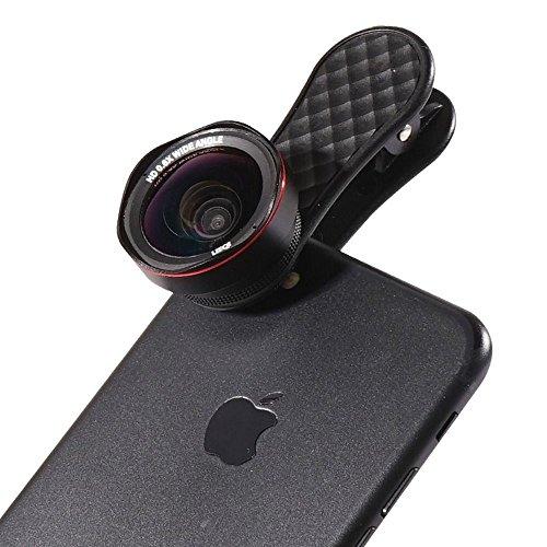 【正規代理店】LIEQI LQ-046 / スマホ用カメラレンズ カメラレンズキット / 広角レンズ 0.6倍 / マクロレンズ 15倍 / ハード保護ケース付き / 自撮り クリップ式 iphone ipad xperia samsung sony android 対応 《メーカー保証12ヶ月》(ブラック)