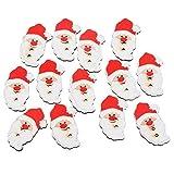 Souarts クリスマス 木製 ボタン 裁縫用品 DIY素材 クリスマスデコレーション アクセサリーパーツ・人形服・子供服ボタン サンタクロース型 2穴 3.4cmx2cm 50個セット