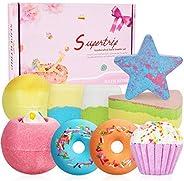 Supertrip Bath Bombs Gift Set - 9 Organic & Natural Handmade Bubble Fizzies Spa Bomb,Shea Cocoa Butter Moi