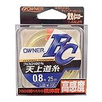 OWNER(オーナー) フロロカーボンライン 天上道糸 FC 25m 0.8号 イエロー