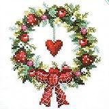 DMC クロスステッチキット 刺繍キット クリスマス ハート