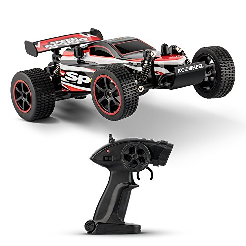 KOOWHEEL ラジコンカー RCカー リモコンカー 無線電動 オフロード バギー 競技可能 1/20 2.4Ghz 高速車 二輪駆動 初心者向け 組み立て不要 子供おもちゃ プレゼント