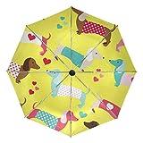 折りたたみ傘 自動開閉 レディース 軽量 携帯 日傘 ワンタッチ UVカット 頑丈な8本骨 耐強風 グラスファイバー 収納ケース付 犬 ペット