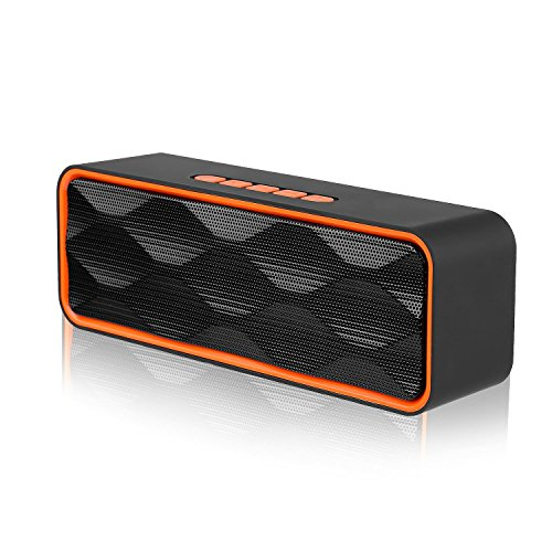 [해외]휴대용 블루투스 4.2 스피커~ Earsin 무선 스테레오 스피커 고음질 큰 소리 저음 핸즈프리 통화 대응 micro SD   USB 메모리   AUX 오디오 케이블 재생 고품질 마이크 내장 일본어 설명서 첨부 (S1)/Portable Bluetooth 4.2 speaker~ Earsin wireles...