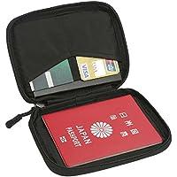 パスポートケース スキミング防止 パスポートポーチ 海外旅行 出張 パスポートバッグ 軽量 防水 トラベルポーチ 旅行グッズ 航空券対応 貴重品入れ 財布 (ブラック-S)