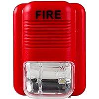 UHPPOTE サウンドとライト火災警報 警告ストロボ サイレン 警笛 安全システムセンサー