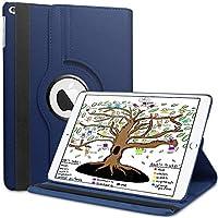 iPad用HBornaカバーケース201.7インチ2018/2017 / iPad Air、360度回転9.7用スマート保護レザーケースiPad 2018 / iPad 2017 / iPad Air 2 / iPad Air 1、ダークブルー