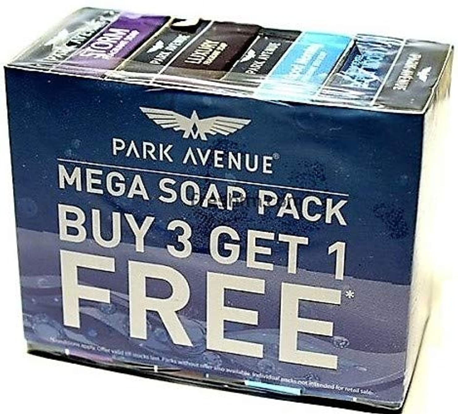 おっと細い気難しいPark Avenue Mega Soap Pack - Buy 3 Get 1 Free