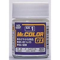 光沢 クールホワイト CMGX001/ 容量:18ml 「Mr.カラー ホワイト (C1)」よりもより高い隠ぺい力を持った白の色を再現 、高品質な仕上りを実感してもらえる塗料 Mr.ホビー