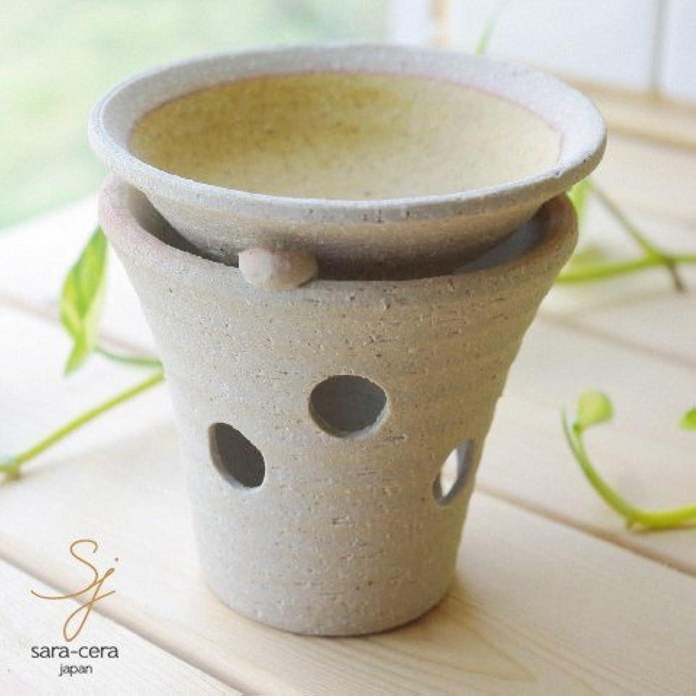 健康脚本家周り松助窯 手作り茶香炉セット 黄釉 イエロー アロマ 和食器 リビング