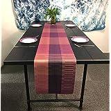 OSVINO テーブルランナー プレースマット 撥水加工 断熱 耐熱 食卓飾り 清潔しやすい 優雅 モダン 飾り付け おもてなし 滑り止め お手入れ簡単, コーヒー色 180x30cm