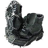 VASTLAND(ヴァストランド) アイゼン スノー スパイク 19本爪 チェーン 滑り止め M~XLサイズ 登山 雪山 収納袋付き