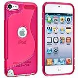 【アウトレット】Apple iPod touch 5 アウトドアスタイルケース (アイポッドタッチ 2012年 第5世代 iPod 5th 対応) Outdoor Style TPU Case ロゴカットデザイン + 液晶保護フィルム1枚【Clear Pink(ピンク)】