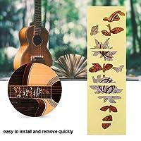 蝶 模様 ギターインレイ ステッカー フレットボード 飾り  デラックス アコースティック/エレクトリックギター/ベース用
