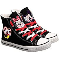 Mickey Mouse Unisex Canvas Shoes Hi-Top Lightweight Espadrilles Lace-up Fashion Sneaker-1