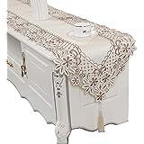 レーステーブルランナー、長方形テーブルフラグフレンチテーブルマットテレビキャビネットカバードレッサースカーフ刺繍入り花 (サイズ さいず : 40×250cm)