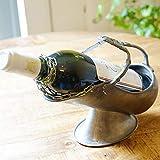 イタリア製 すず製 ワインホルダー サーバー ピューター