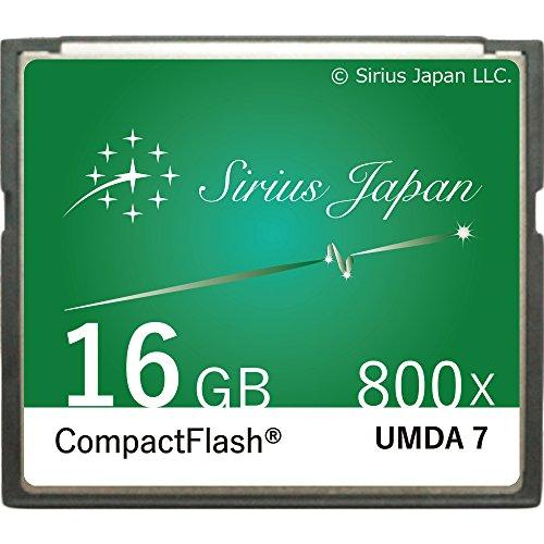 シリウス CFカード 16GB グリーン 選べる5色 コンパクトフラッシュカード 800倍速 ASC-16GGR