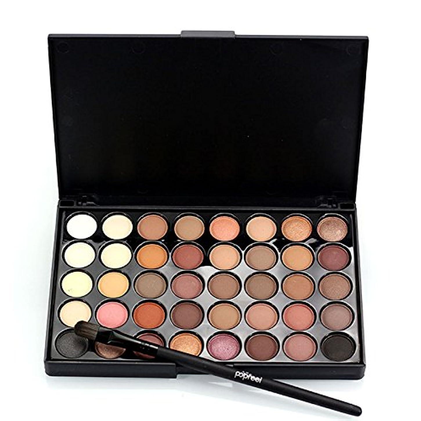 一般過半数熱心1pcs Eyes Brush Eye Shadow Makeup Brushes + 40 Colors Eyeshadow Palette Natural Face Matte Camouflage Cosmetic...