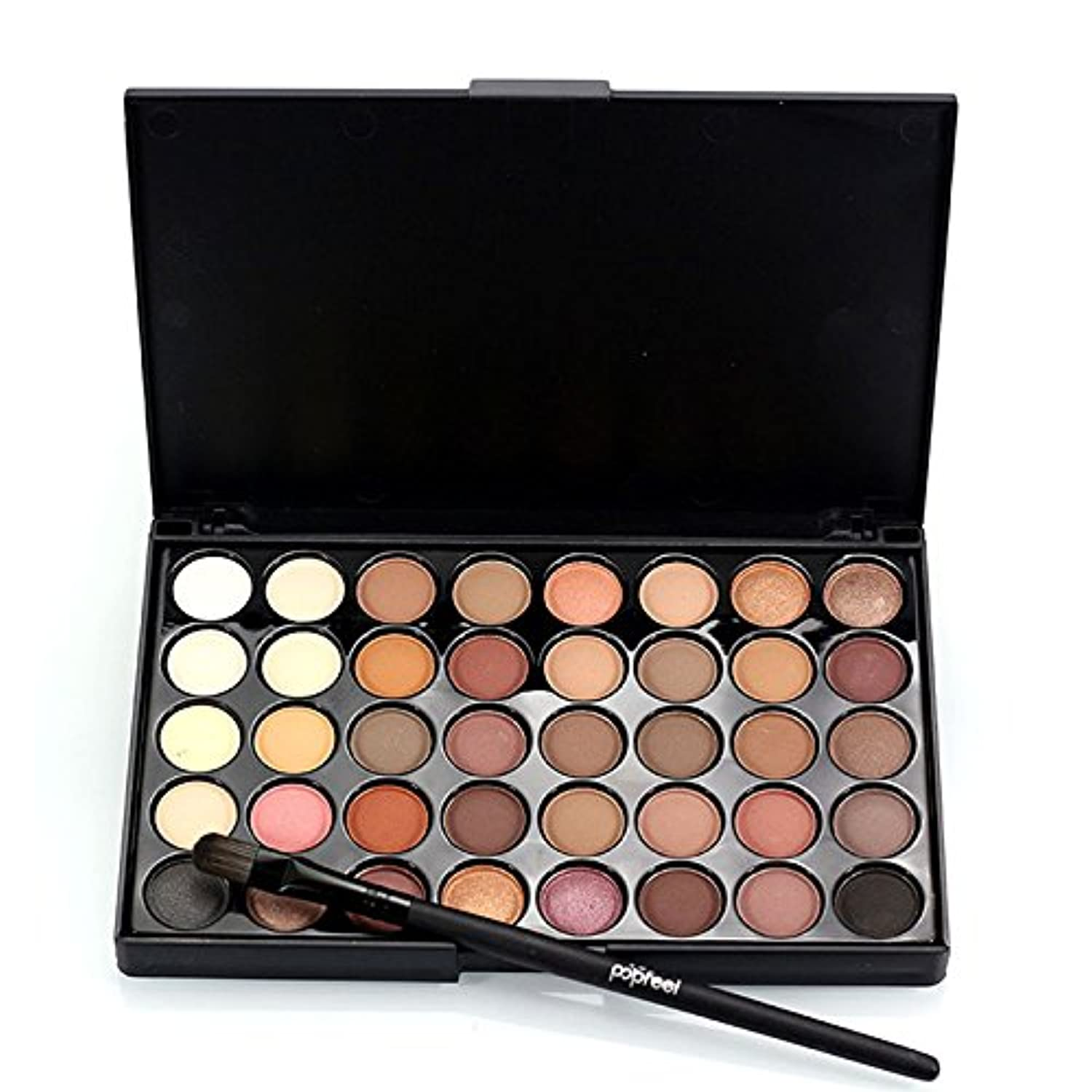 1pcs Eyes Brush Eye Shadow Makeup Brushes + 40 Colors Eyeshadow Palette Natural Face Matte Camouflage Cosmetic...