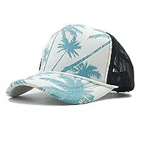 帽子 野球帽 夏 おしゃれ 男女兼用 ファッション ベースボールキャップ シーサイドホリデー トラックの帽子,女性の ファッション帽子 (色 : Green, サイズ : 56〜60CM)