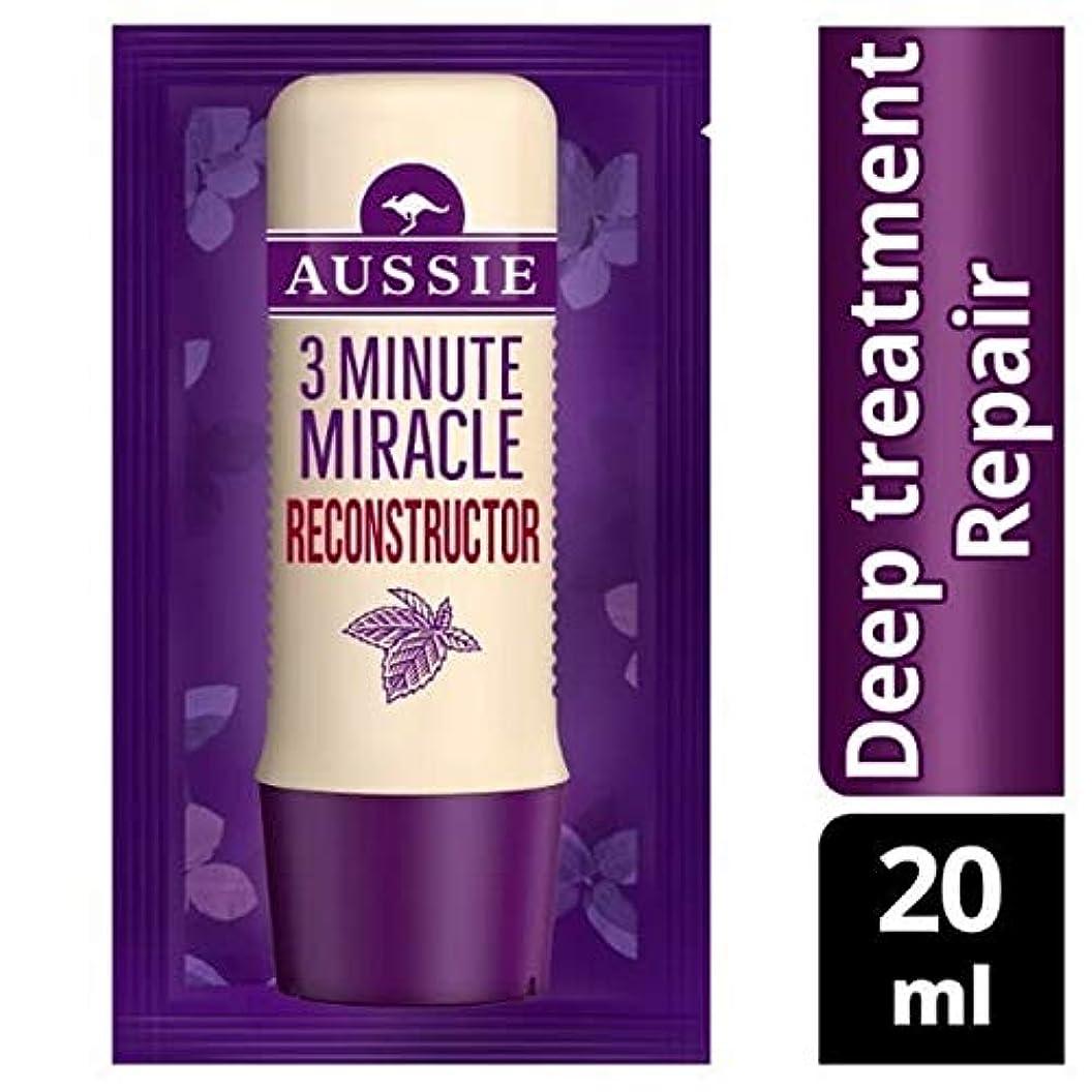 忠誠入場主に[Aussie ] オーストラリアの深い治療3分の奇跡の再構成の20ミリリットル - Aussie Deep Treatment 3 Minute Miracle Reconstructor 20ml [並行輸入品]