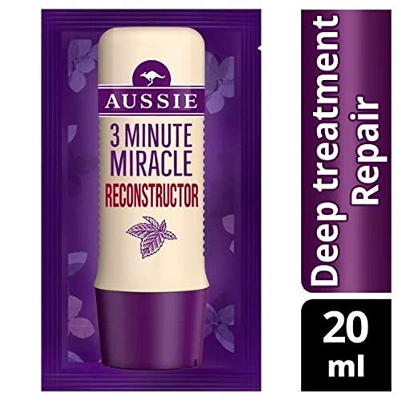 おばさん達成麦芽[Aussie ] オーストラリアの深い治療3分の奇跡の再構成の20ミリリットル - Aussie Deep Treatment 3 Minute Miracle Reconstructor 20ml [並行輸入品]